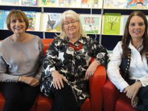 With Janet Gover and Jean Fullerton, fellow panellists