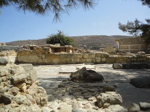My first glimpse of Knossos