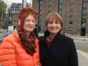 Carol Hedges & I finally meet