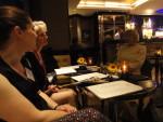 Jenny Barden, Anita Chapman, Evonne Wareham -settling down for a final drink