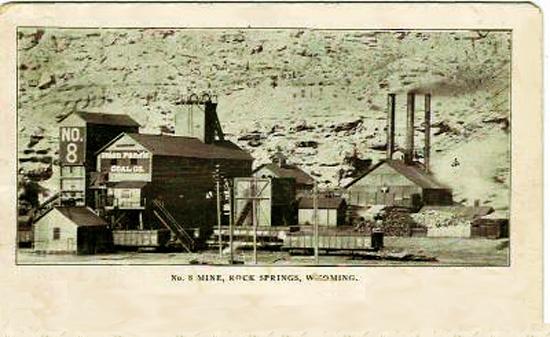 No. 8 mine, Rock Springs, Wyoming. Courtesy of wyomingtalesandtrails.com